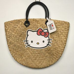 Hello Kitty Victoria Couture Beach Straw Tote Bag